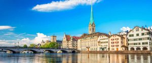 Zurich city river