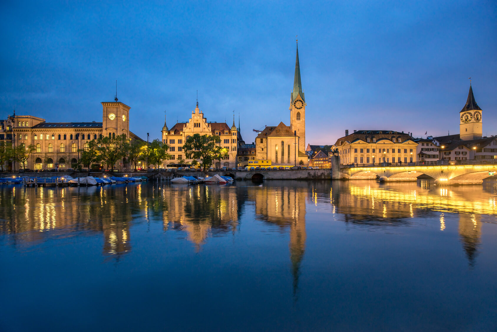 Zurich in the night